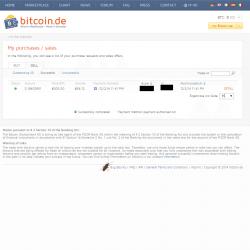 A log of recent bitcoin sales